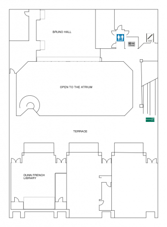 Harbert Center 2nd floor Diagram