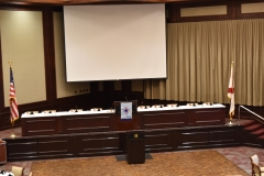 Beeson Hall stage and screen