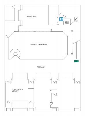 Harbert Center 2nd floor Diagram
